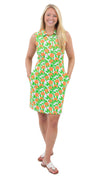 Port Dress Sleeveless - Orange Grove