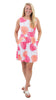 Boardwalk Dress - Hot Pink/Salmon Dancing Palms