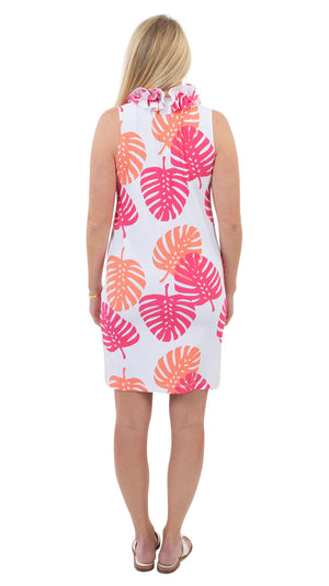 Skipper Dress - Hot Pink/Salmon Dancing Palms