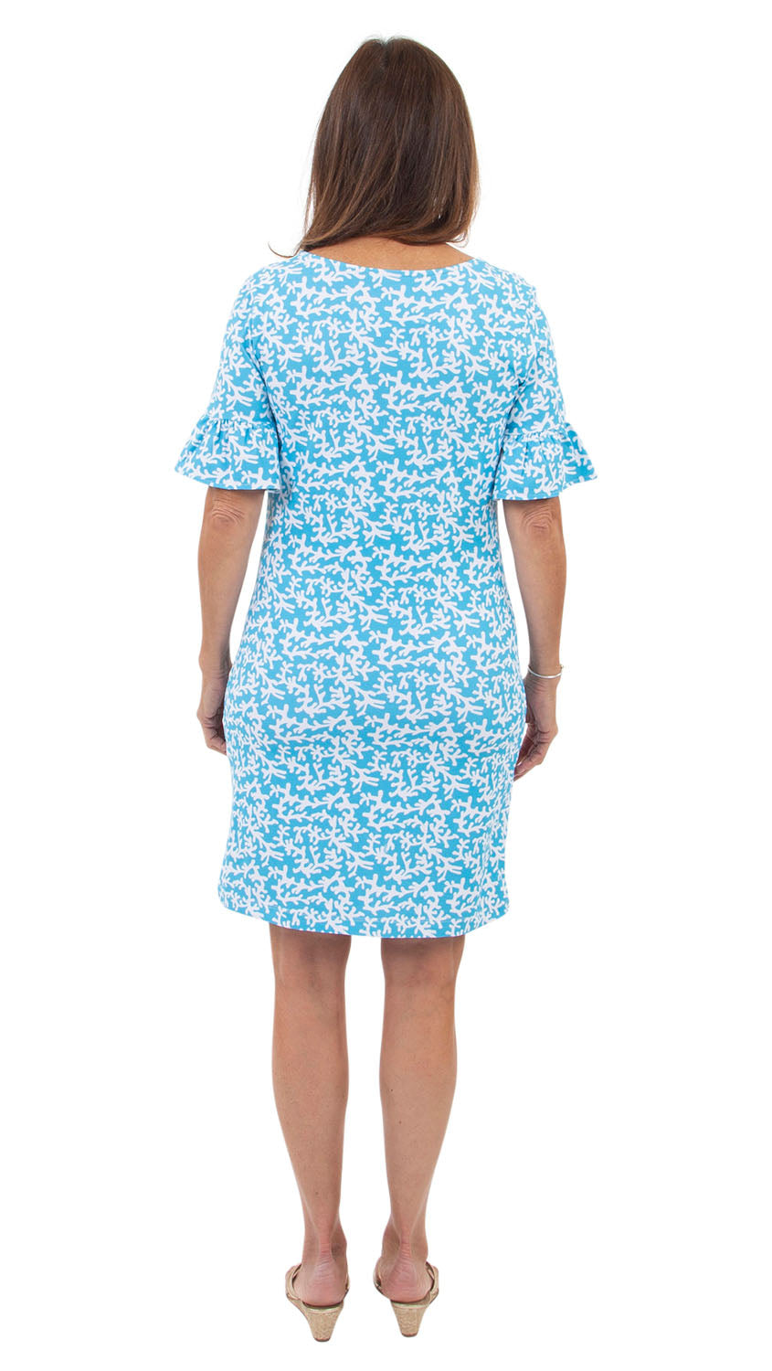 Dockside Dress - Tiny Coral Aquarius