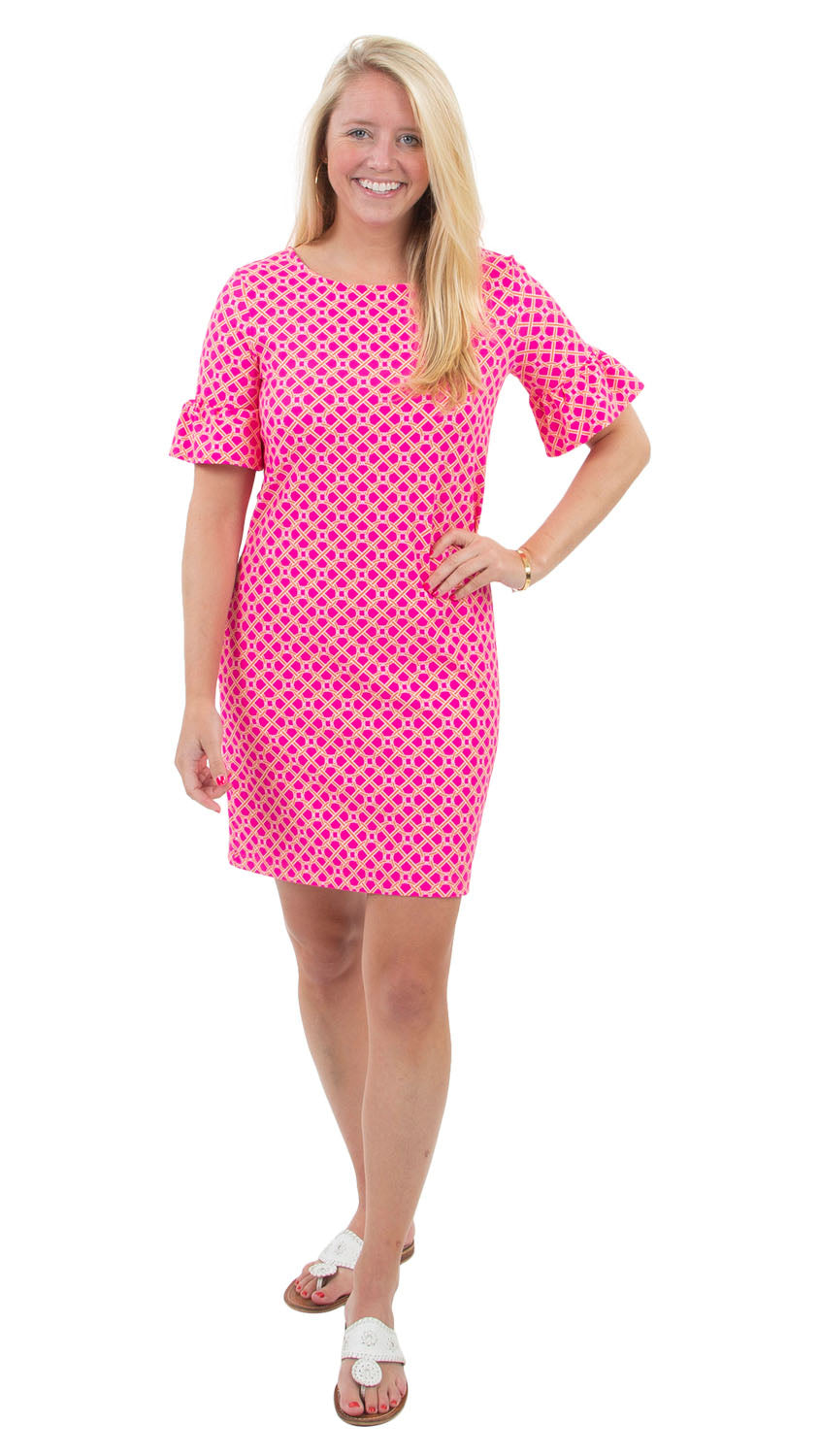 Dockside Dress - Pink/Orange Bamboozled