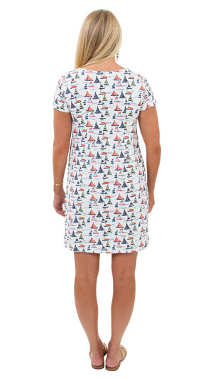 Marina Dress - Sailboats - FINAL SALE