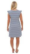 Jojo Dress - Wide White/Navy Stripe