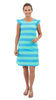 Jojo Dress - Aquarius/Biscay Stripe