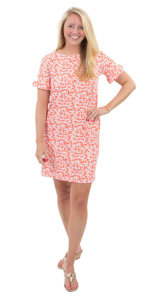 Coco Dress - Tiny Coral Coral