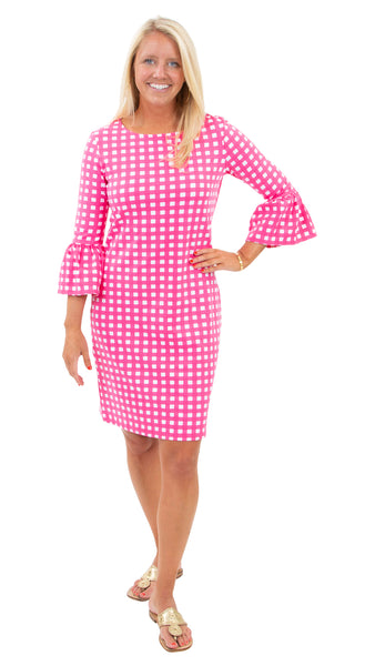 Haley Dress - Picnic Check Pink/White - FINAL SALE