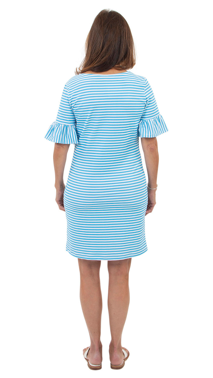 Dockside Dress - Aquarius/White Stripe