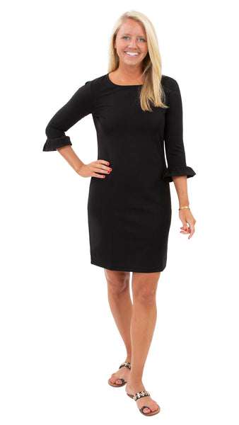 Dockside Dress 3/4 - Solid Black