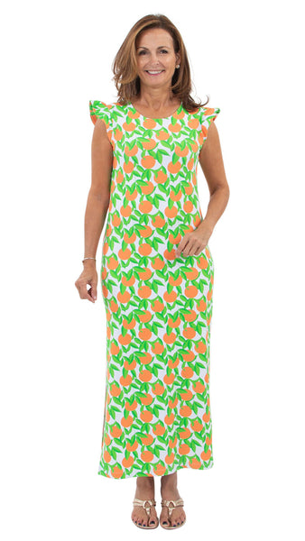 Jojo Maxi Dress - Orange Grove