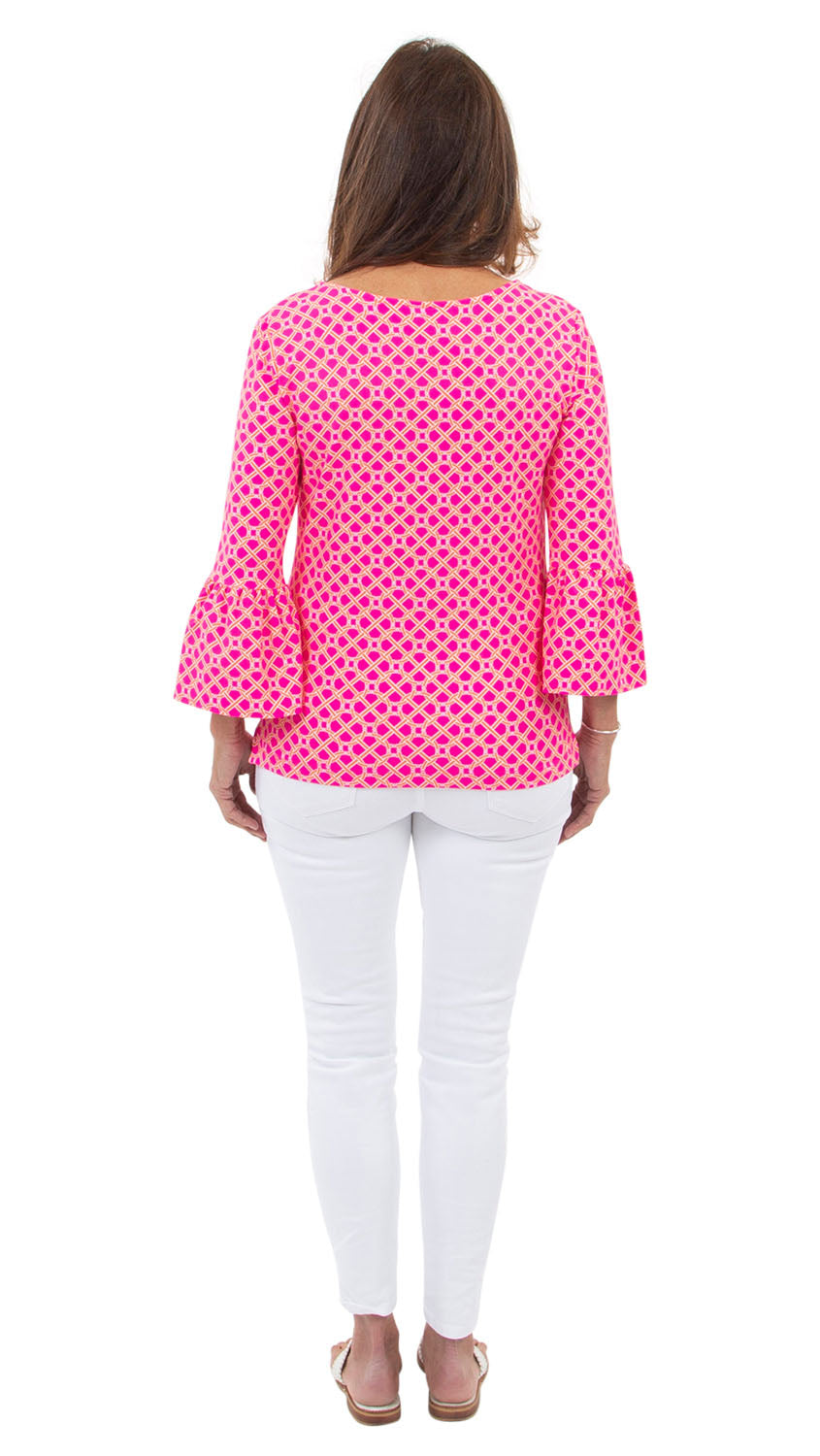 Haley Top - Pink/Orange Bamboozled