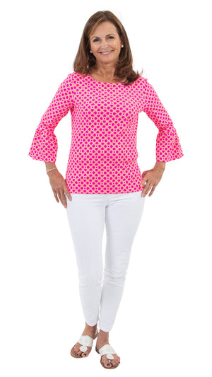 Haley Top - Pink/Orange Bamboozled - FINAL SALE