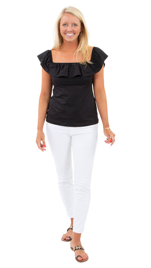 Shoreline Top - Solid Black