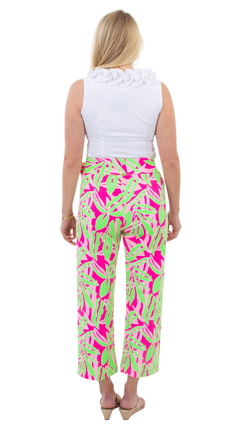 Dorothy Pants - Tropical Breeze Pink/Green