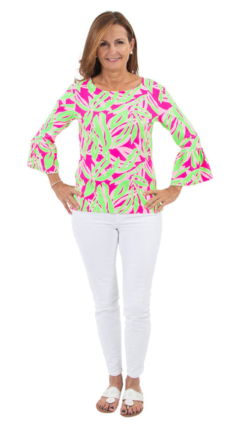 Haley Top - Tropical Breeze Pink/Green