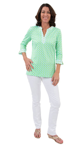 Megan Tunic - Geo Green/Aqua