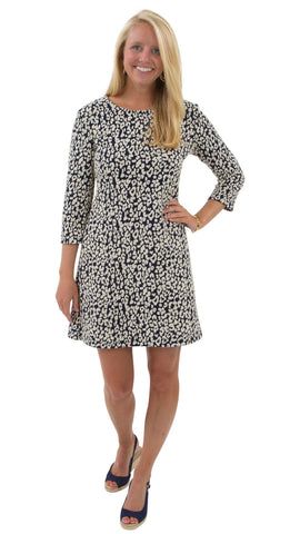 Grace Dress - Navy Leopardess
