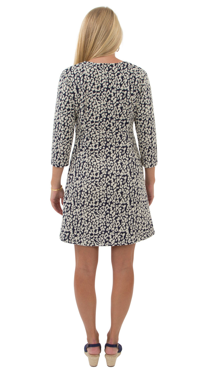 Grace Dress - Navy Leopardess - FINAL SALE