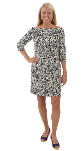 Islander Dress - Navy Leopardess
