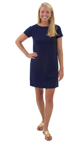 Marina Dress - Solid Navy
