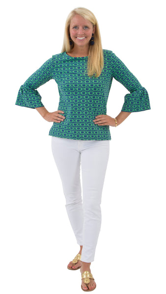 Haley Top - Green/Navy Rope