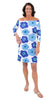Islander Dress - Mod Flower Azure/Navy