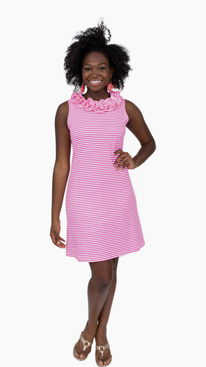 Cricket Dress - Pink/White Stripe