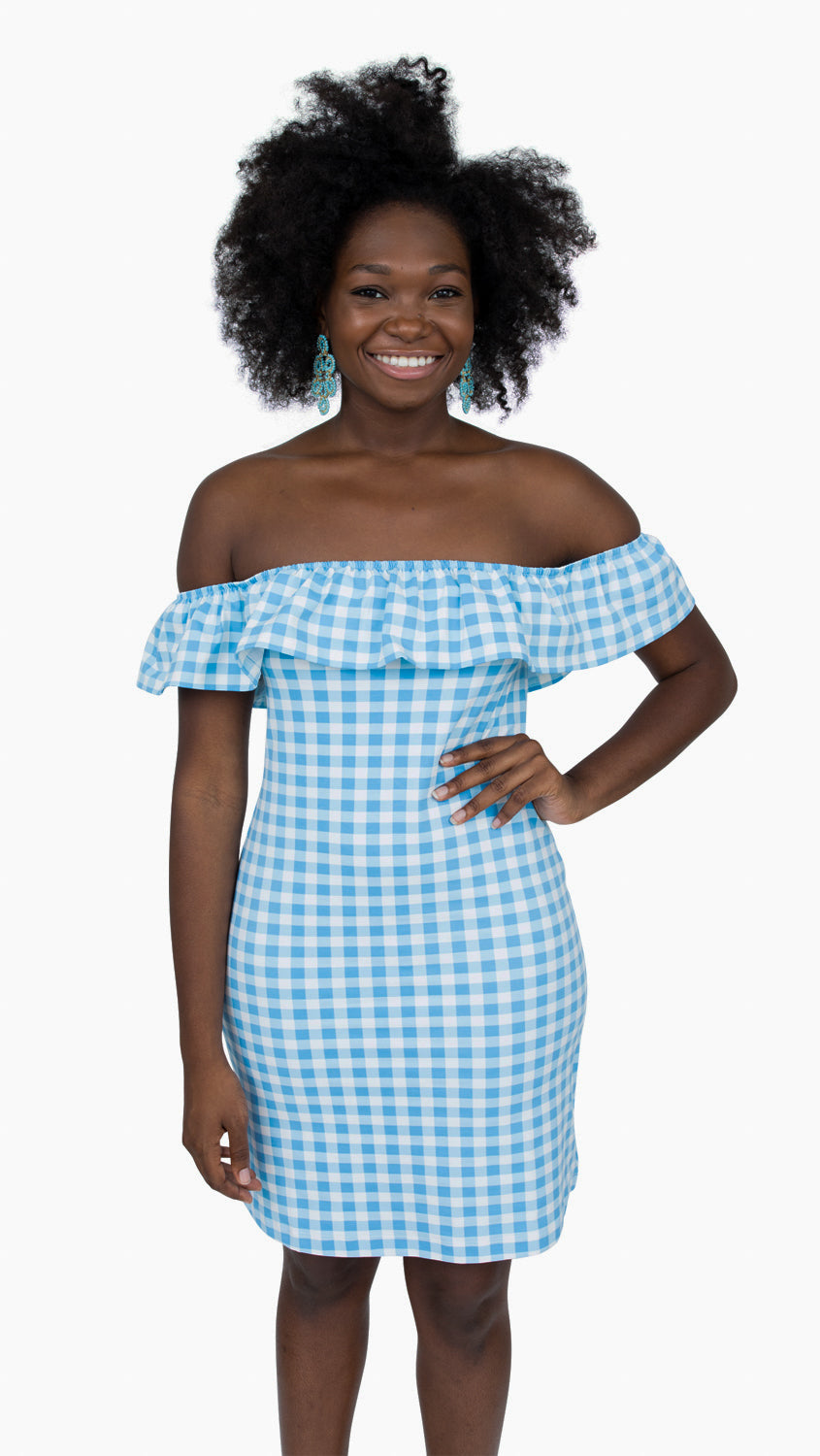 Shoreline Dress - Blue Picnic Check