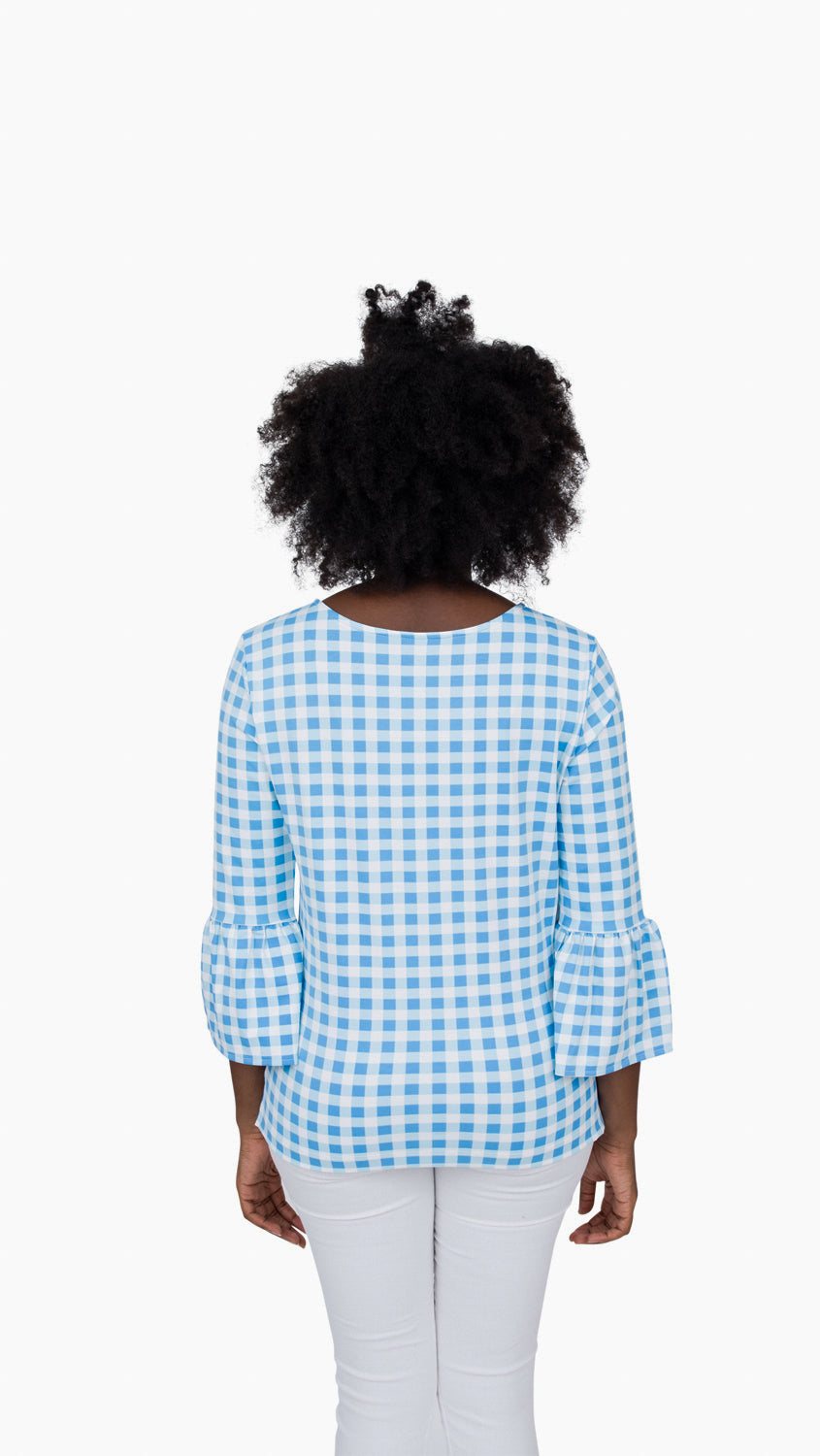 Haley Top - Blue Picnic Check