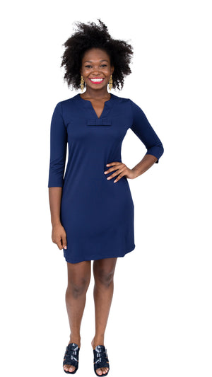 Lucy Dress 3/4 - Solid Navy
