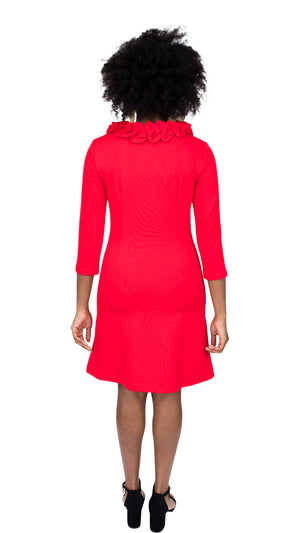 Cricket Dress - Red Ponte