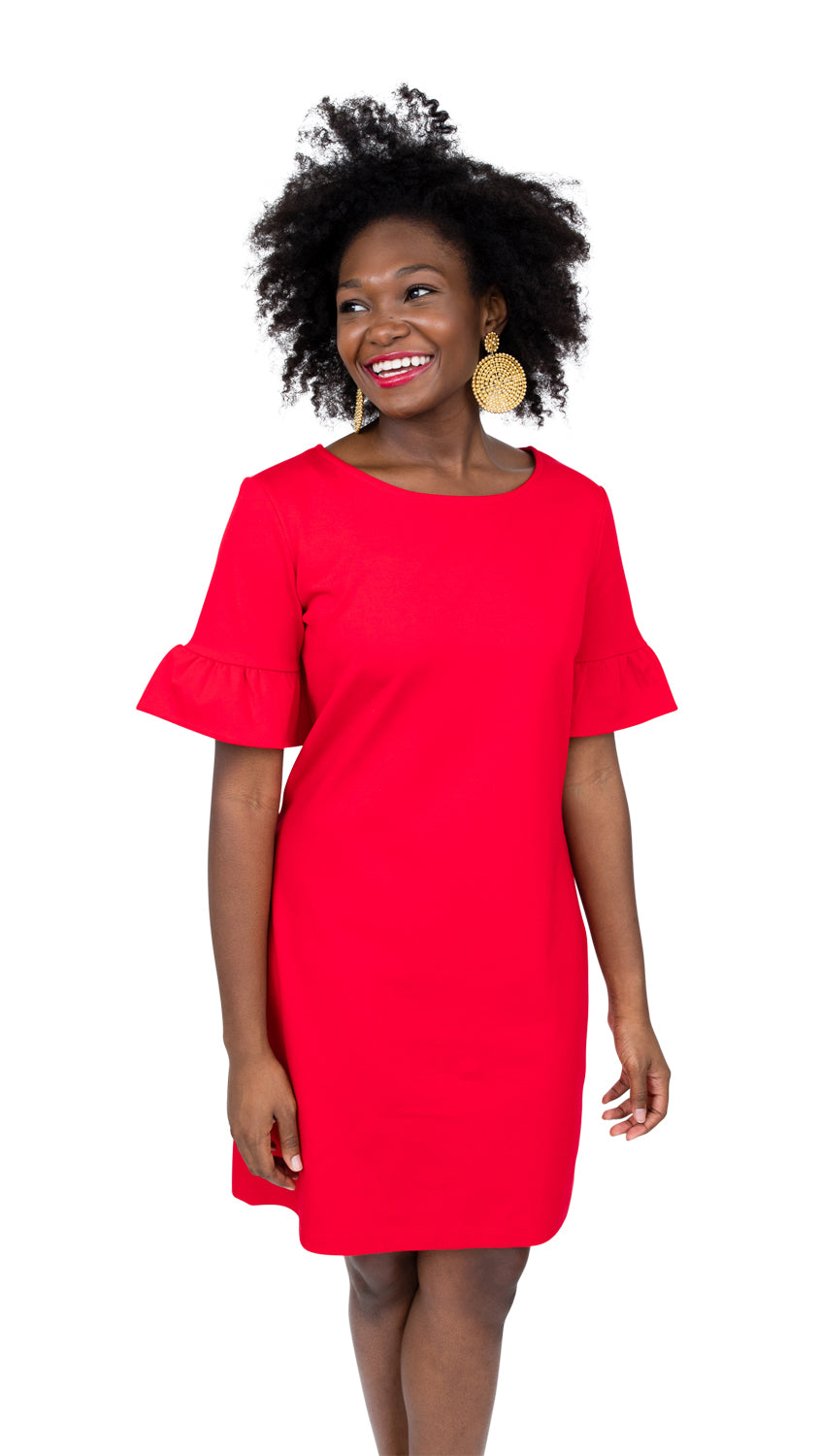 Dockside Dress - Red Ponte