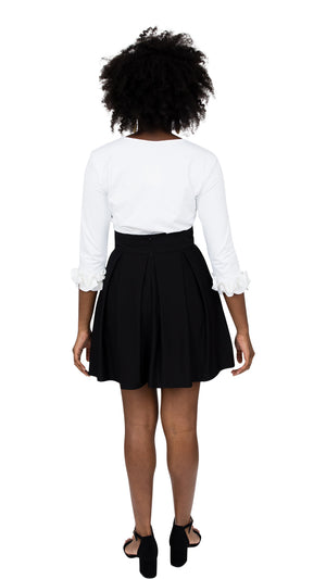 Party Skirt - Solid Black- FINAL SALE