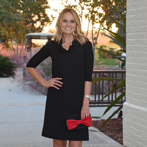 Bridget Dress 3/4 Sleeve - Solid Black