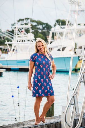 Marina Dress - Lobsters