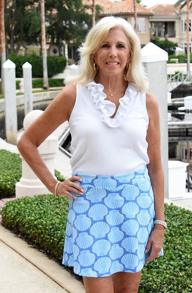 Skort - Scallop Shell 2 Blue