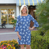 Haley Dress 3/4 Sleeve - Stick Starfish Navy/White