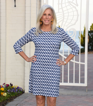 Grace Dress - Rope Stripe- FINAL SALE
