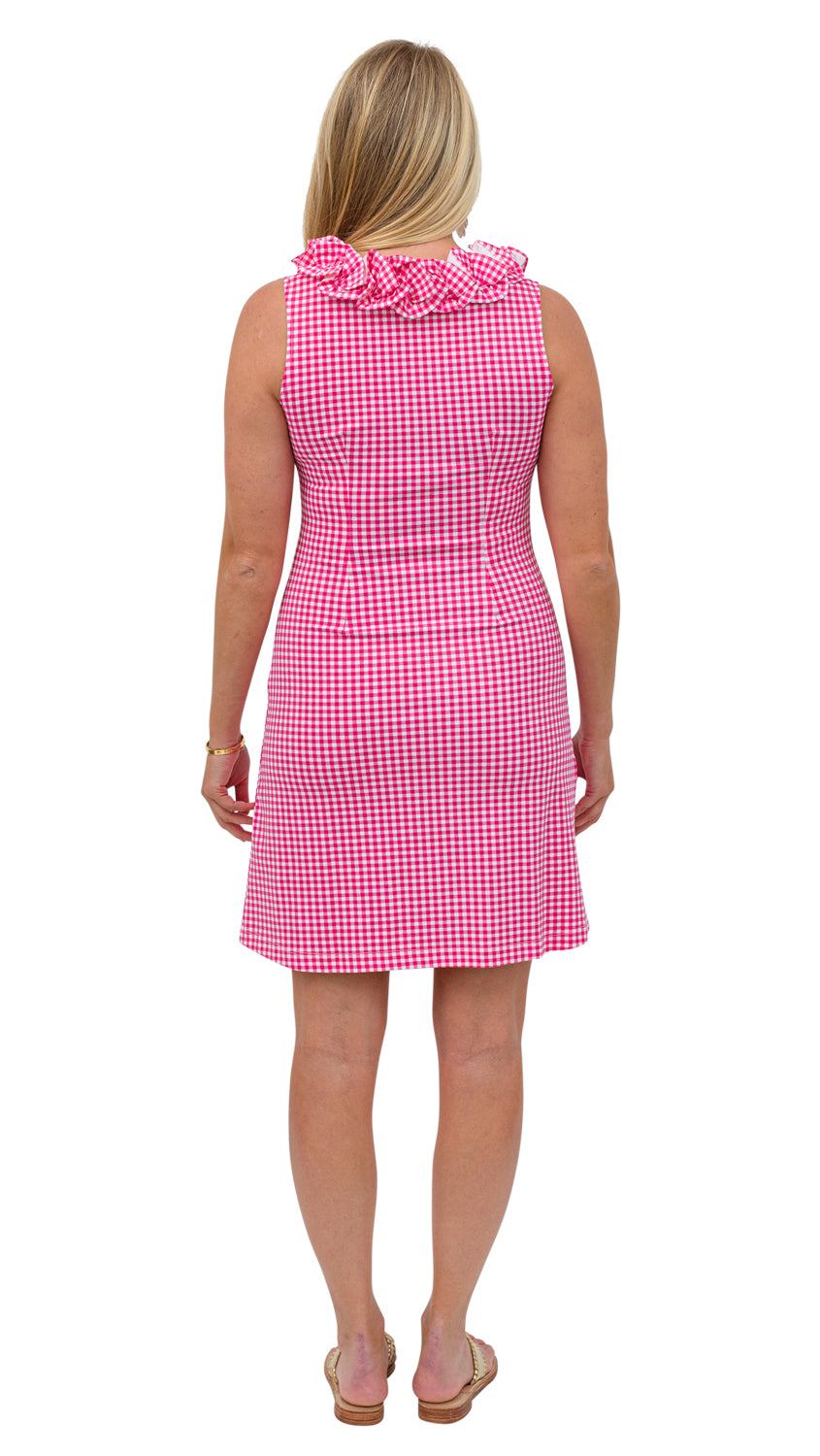 Cricket Dress Sleeveless - Magenta Small Check