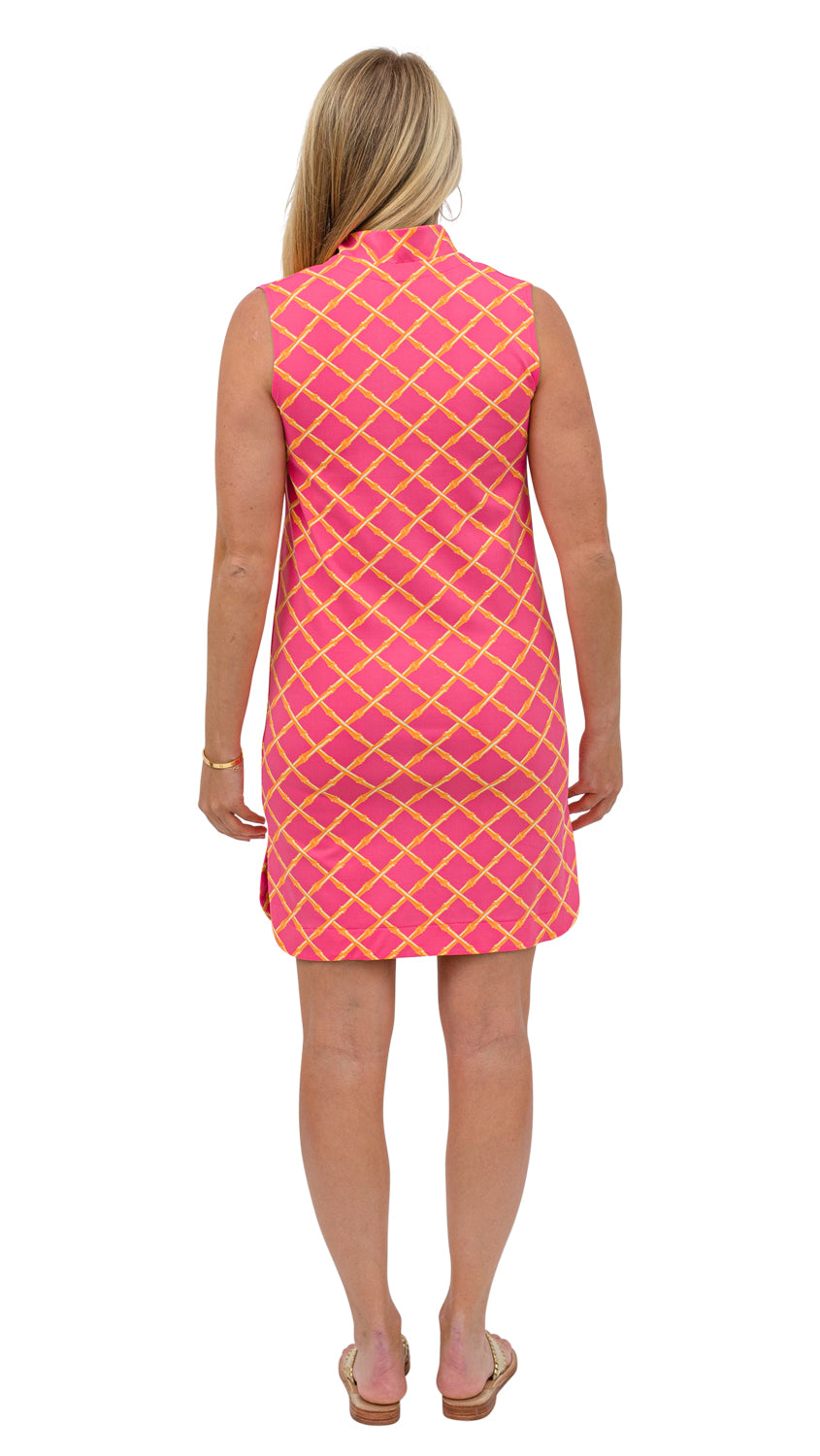 Seaport Shift - Pink/Orange Bamboo Lattice