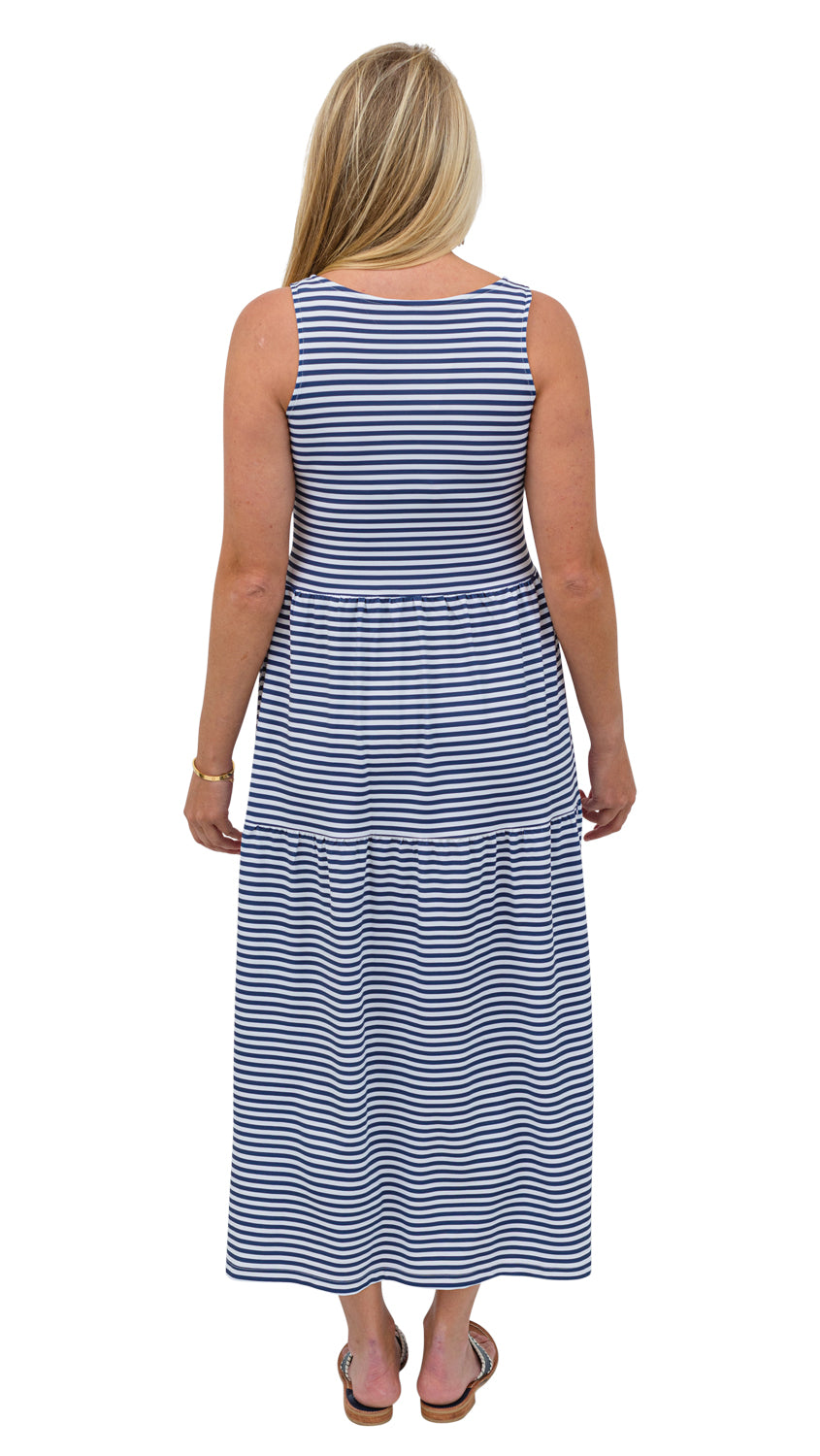 Kate Maxi Dress - Navy/White Stripe
