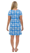 Marina Dress - Blue/White Montauk Daisy