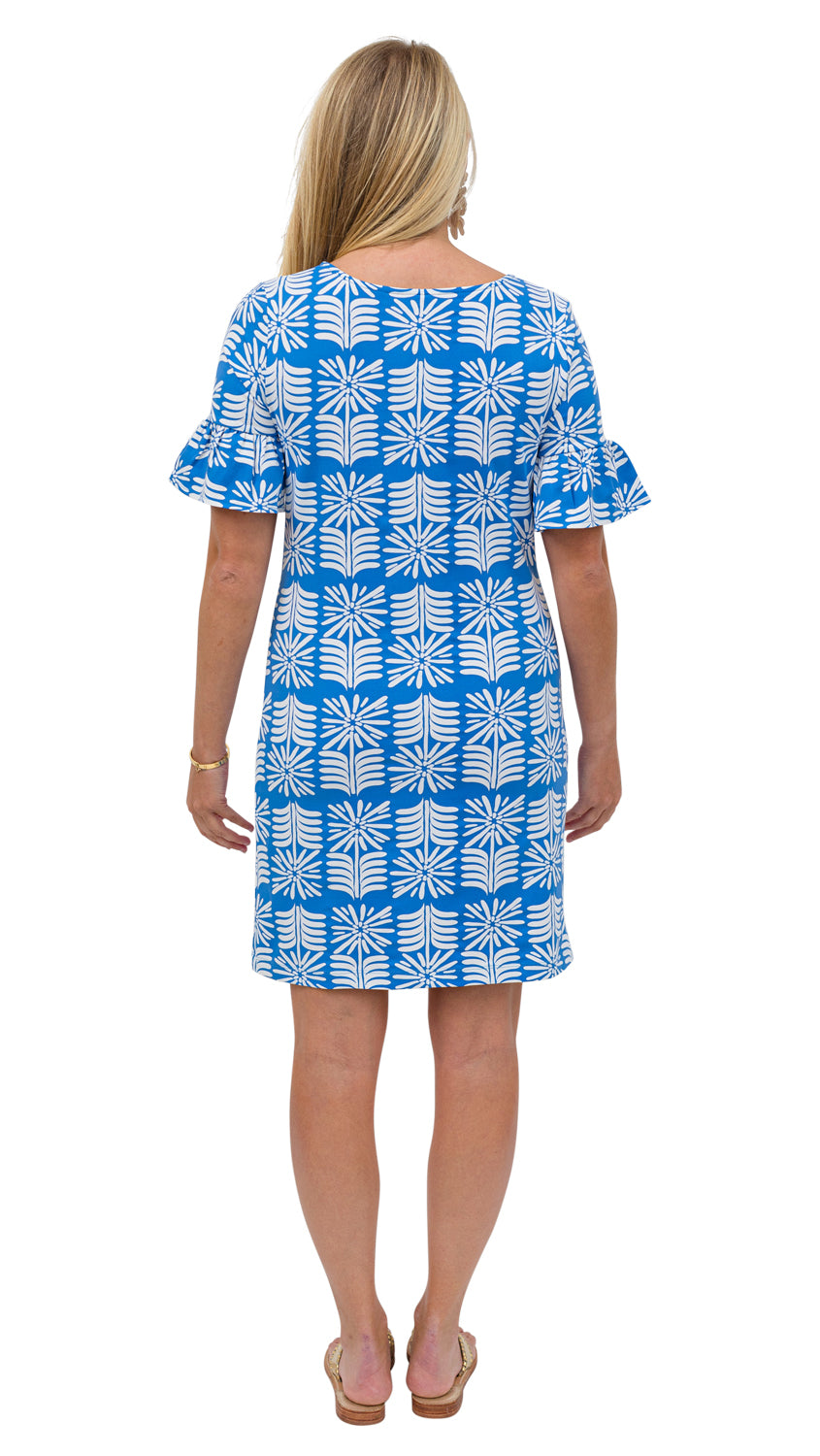 Dockside Dress - Blue/White Montauk Daisy