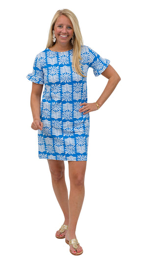 Coco Dress - Blue/White Montauk Daisy