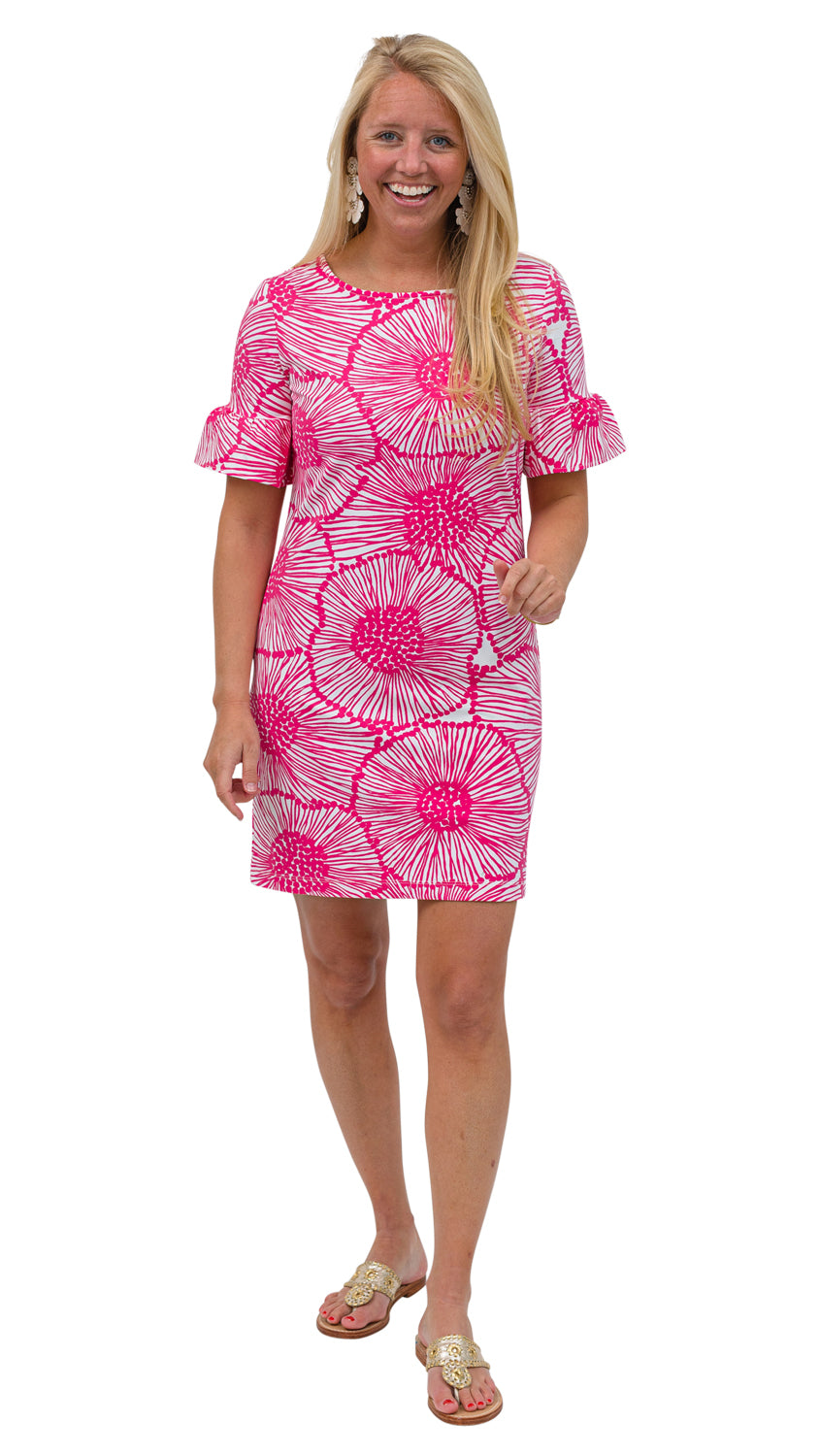 Dockside Dress-Magenta Dandelion