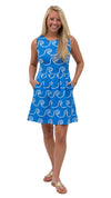 Boardwalk Dress - Blue/White Rope Coil