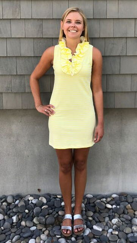 Skipper Dress - Yellow/White Stripes- Final Sale