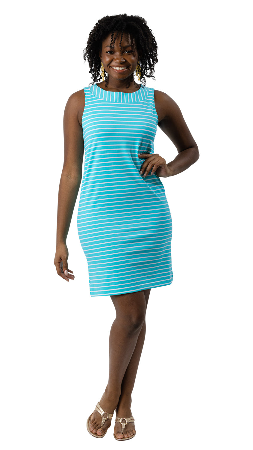Yacht Club Shift - Blue Curacao Stripe