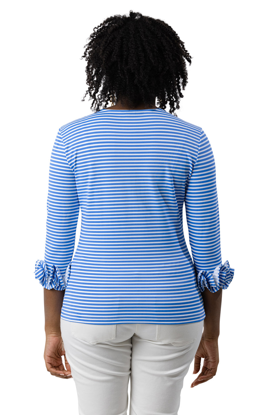 Caroline Top - Regatta Blue/White Stripe