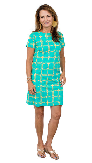 Marina Dress - Green/Gold Autumn Chain