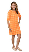 Yacht Club Dress 3/4 - Orange/Gold Autumn Chain FINAL SALE